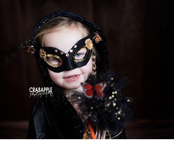 girls black halloween fairy costume toddler fairy wand sparkly black mask sparkly fairy - Girl Halloween Masks