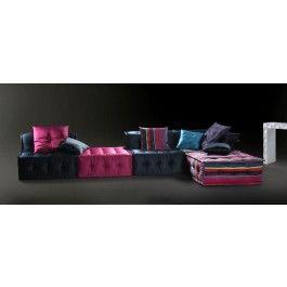 Vig Furniture   Chloe (LS103DA) Multi Colored Fabric Sectional Sofa