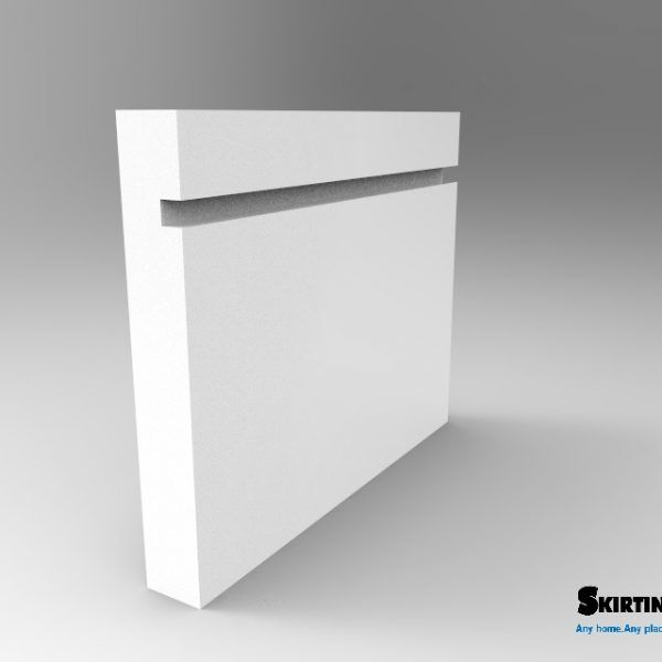 Grooved Square skirting is one of the many perfect profiles for a modern home style. The profile shape is 25mm in height with a 6mm height groove. Please note this shape does not change and will remain the same height on all SkirtingUK height options. MDF Skirting Board Grooved Square Skirting, Cheap Grooved Square Skirting