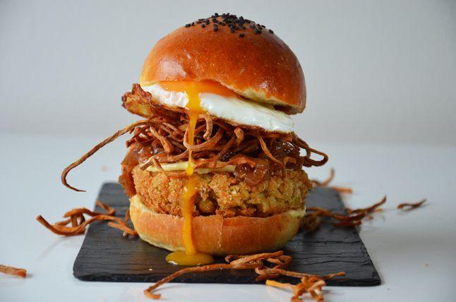 Kublanka vaří doma - Cizrnový hamburger s batátovou slámou
