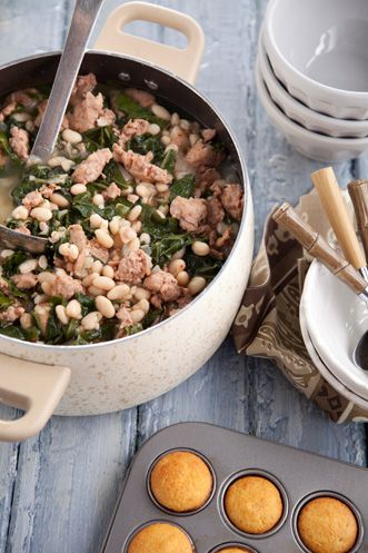 Sausage White Bean and Swiss Chard Soup