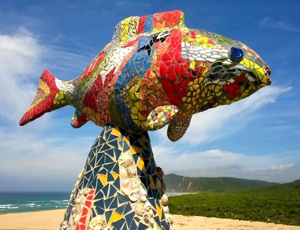 "Discover Sedgefield ~ The mosaic capital of the Western Cape!  ""The Mosaic Project was launched to attract Art Tourism to Sedgefield, and stimulate the installation of mosaics throughout the town as well as build links between Smutsville/Sizamile and Sedgefield town  Sedgefield ~ Western Cape, Garden Route https://www.wheretostay.co.za/town/sedgefield/accommodation"