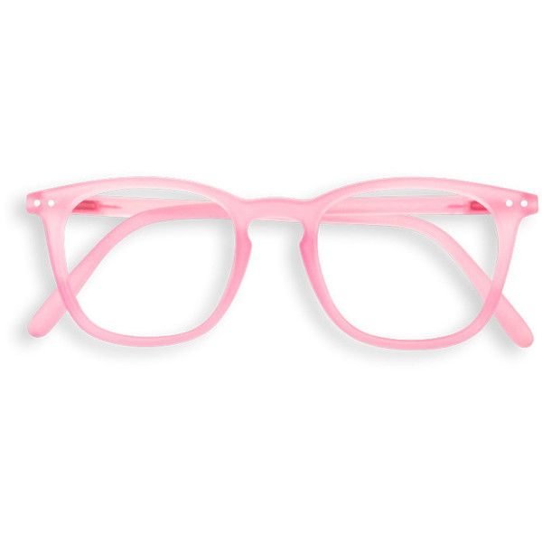"See concept - ""e"" jelly pink reading glasses ($39) ❤ liked on Polyvore featuring accessories, eyewear, eyeglasses, glasses, pink eye glasses, jelly glasses, short glasses, reading glasses and pink eyeglasses"