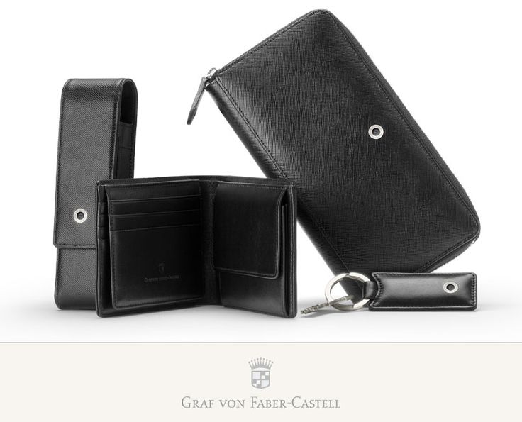 As soon as you pick up a wallet from the Graf von Faber-Castell Collection you notice the excellent craftsmanship.  Each model possesses three pockets for driving licence or personal identity card, a divided pocket for banknotes, and a coin compartment. #leather #saffiano #wallet #craftsmanship