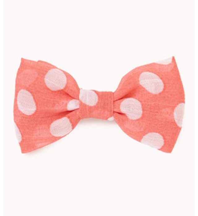 pink polka dot bow... I am just head over heals for these things!
