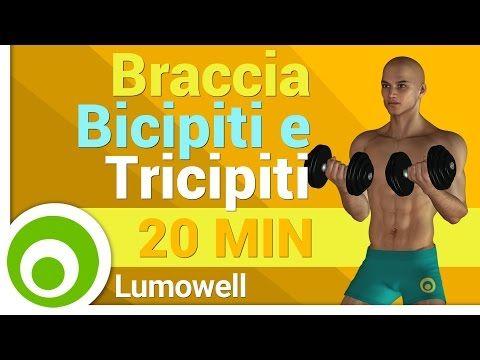 Esercizi per le Braccia con Pesi - Bicipiti e Tricipiti a Casa - YouTube