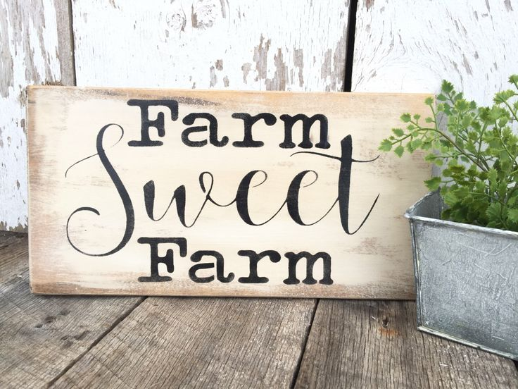 Rustic Wood Sign Farm Sign Rustic Home Decor Rustic Decor Wooden Wall Hanging Hand Painted Wood Sign Farm House Sign Wood Sign