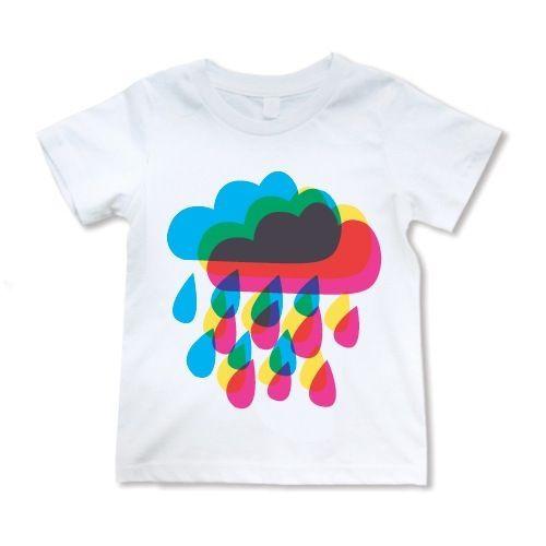 Image of Rainy day rainbow tshirt