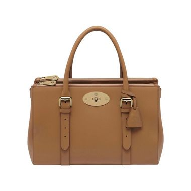 Mulberry - Bayswater Double Zip Tote in Deer Brown Silky Classic Calf