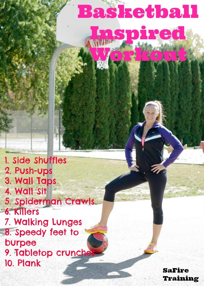 Looking to relieve the glory days of when you were an athlete? This basketball inspired workout will take you back all well getting you in shape.