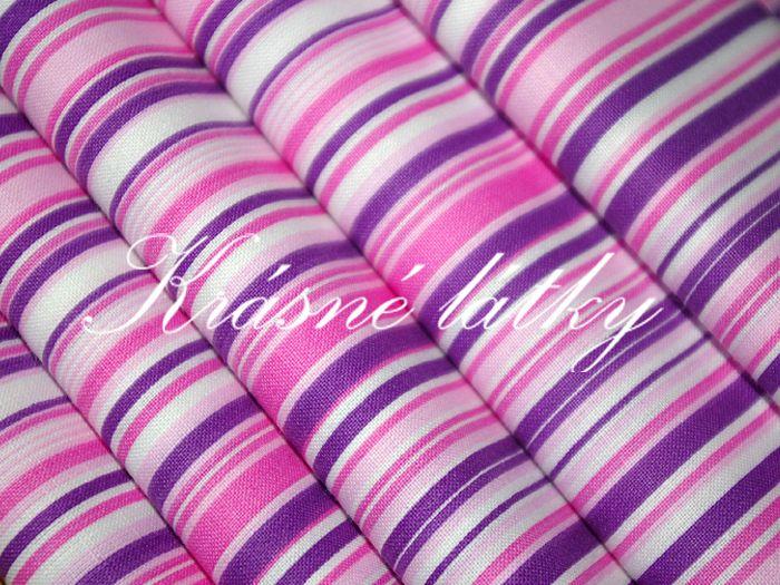 Růžovofialový proužek - šíře 240 cm