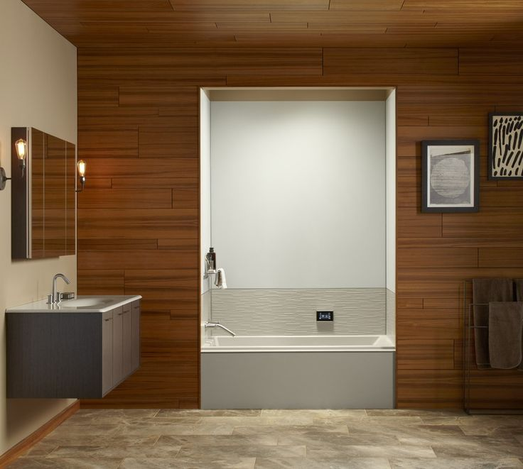 acrylic panels for bathroom walls%0A Choreograph TexturedStix accent panels offer the look of luxury without  the price tag