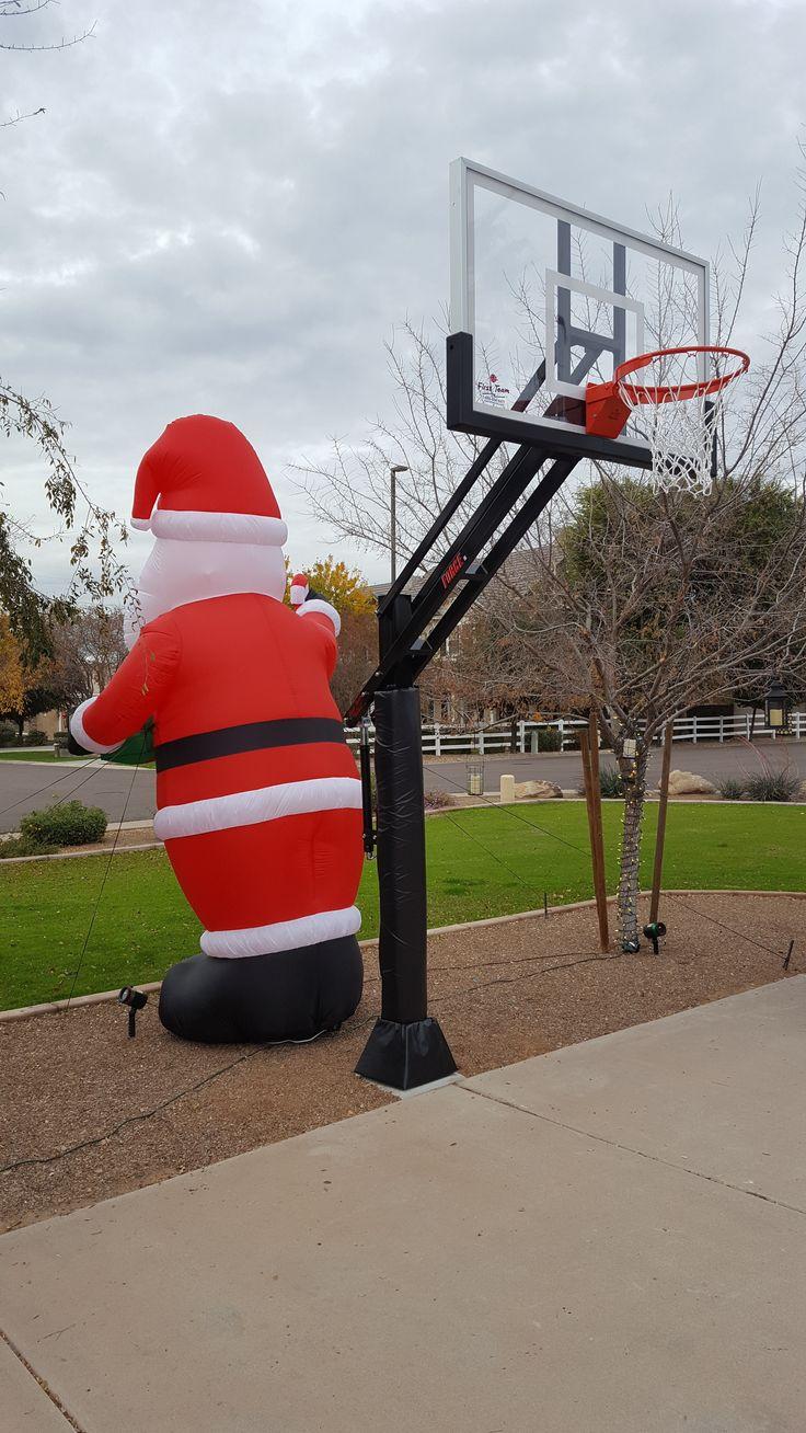 Santa delivered a First Team Force Select adjustable basketball goal!
