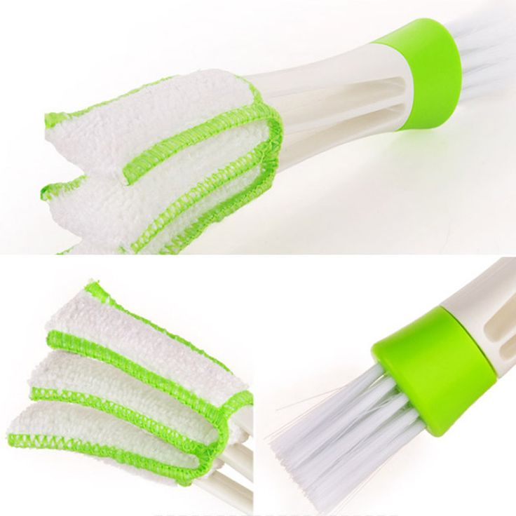 Portable Double Ended Car Air Vent Slit Cleaner Brush Dusting Blinds Keyboard Cleaning Brushes DXY88  Price: 1.33 USD