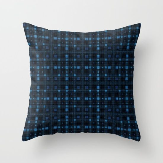 Throw Pillow, pattern, blue