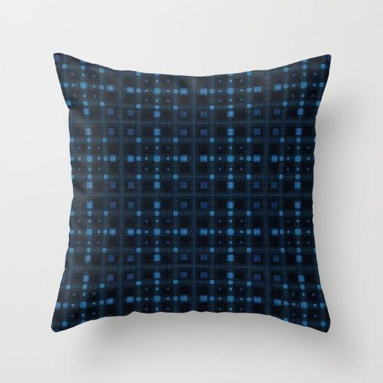 Throw Pillow, pattern, blue