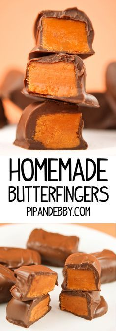 Homemade Butterfinger Candy Bars....YES, it's true! They are just as good as the real deal.