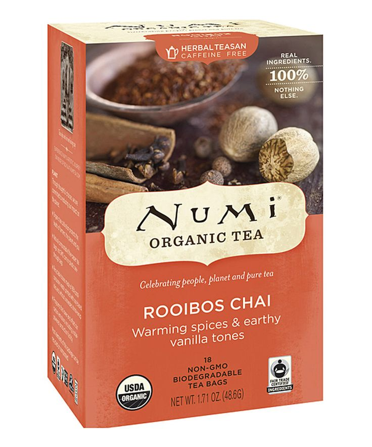 Another great find on #zulily! Numi Organic Tea Organic Rooibos Chai Tea by Numi Organic Tea #zulilyfinds