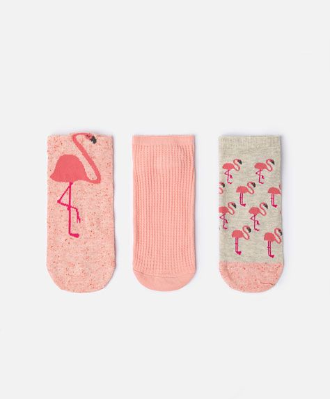3 pack of flamingo socks - View All.