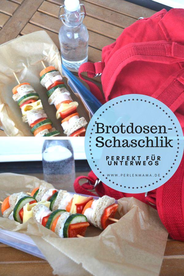 Perfekt für unterwegs: Der kreative Schaschlik für die Brotdose, im Kindergarten, für die Schulpause oder als Snack für Ausflüge.