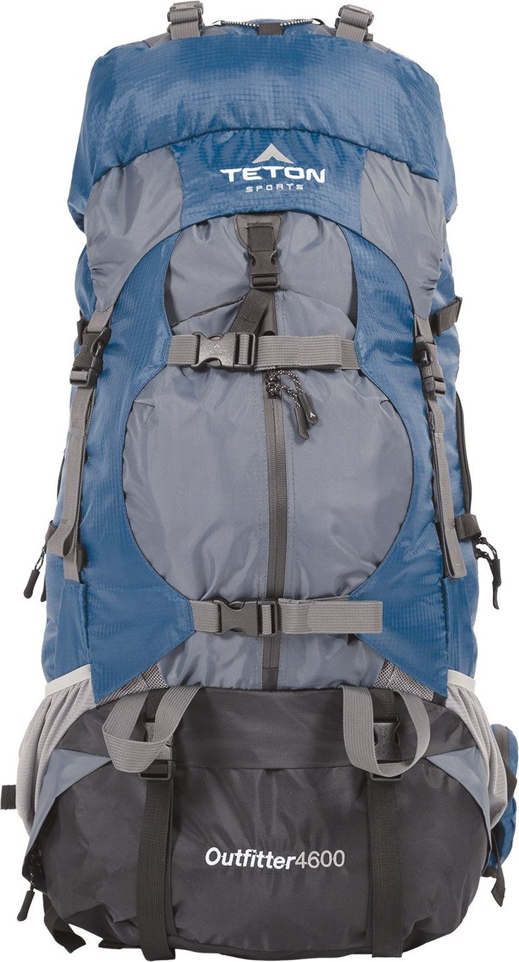 TETON Sports Outfitter 4600 Ultralight Internal Frame Backpack; Backpacking Gear; Hiking Backpack for Camping, Hunting, Mountaineering, and Outdoor Sports; Free Rain Cover Included. EXTRA LARGE BACKPACK: Mesh storage, bungee storage, compression straps, eyelets, and tie downs galore; You can put all your gear in and on this pack for a great outdoor excursion; Size 4600 cubic inches (75 L); Pack weight 5.5 pounds (2.5 kg). INNOVATIVE DESIGN: Lumbar support, adjustable torso length...