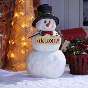 Give your guests a cheerful winter welcome with the Welcome Snowman! #kirklands #holidaydecor #KirklandsHoliday