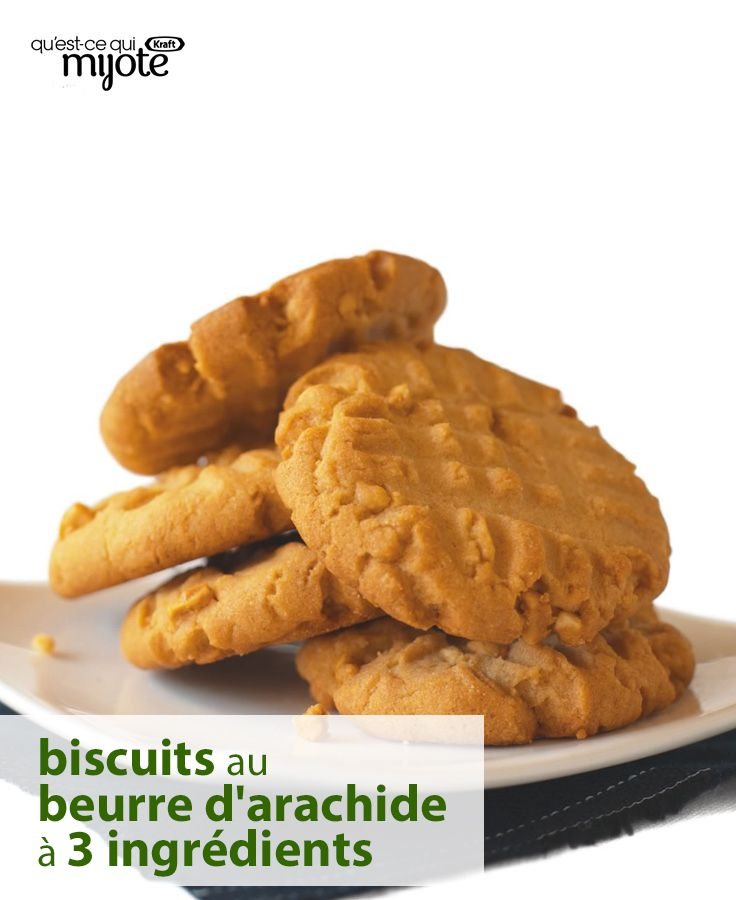 Essayez cette recette favorite des épingleurs : des biscuits aussi faciles à faire que délicieux ! Et il suffit de trois ingrédients pour les préparer. Cliquez ou tapez sur la photo pour obtenir la #recette de nos Biscuits au beurre d'arachide super faciles.