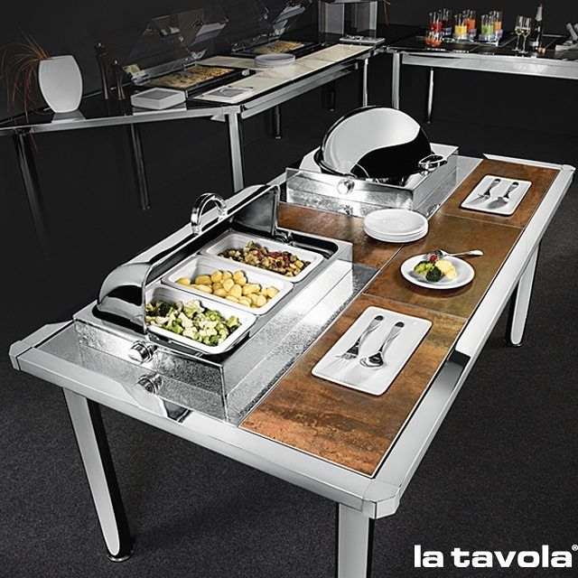 how to set a buffet table with chafing dishes