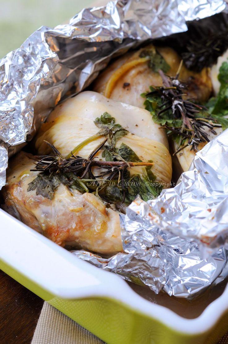 Pollo al cartoccio con limone e spezie  vickyart arte in cucina