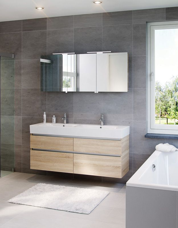 34 best salle de bain images on Pinterest Bathroom, Bathroom - meuble salle de bain pierre naturelle