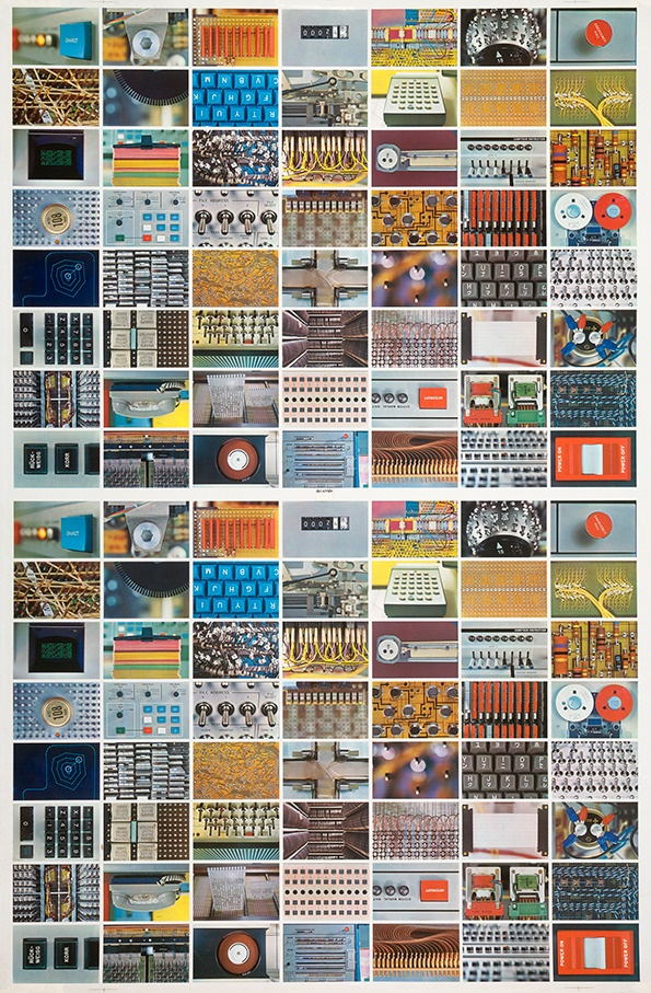 Eames Studio: Double sheet of all Computer House of Cards faces, 1970 (Courtesy and ©2012 Eames Office)