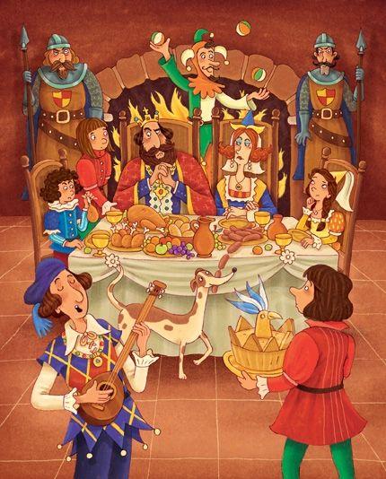 Illustration d'une scène du Moyen Âge... par James Smith.