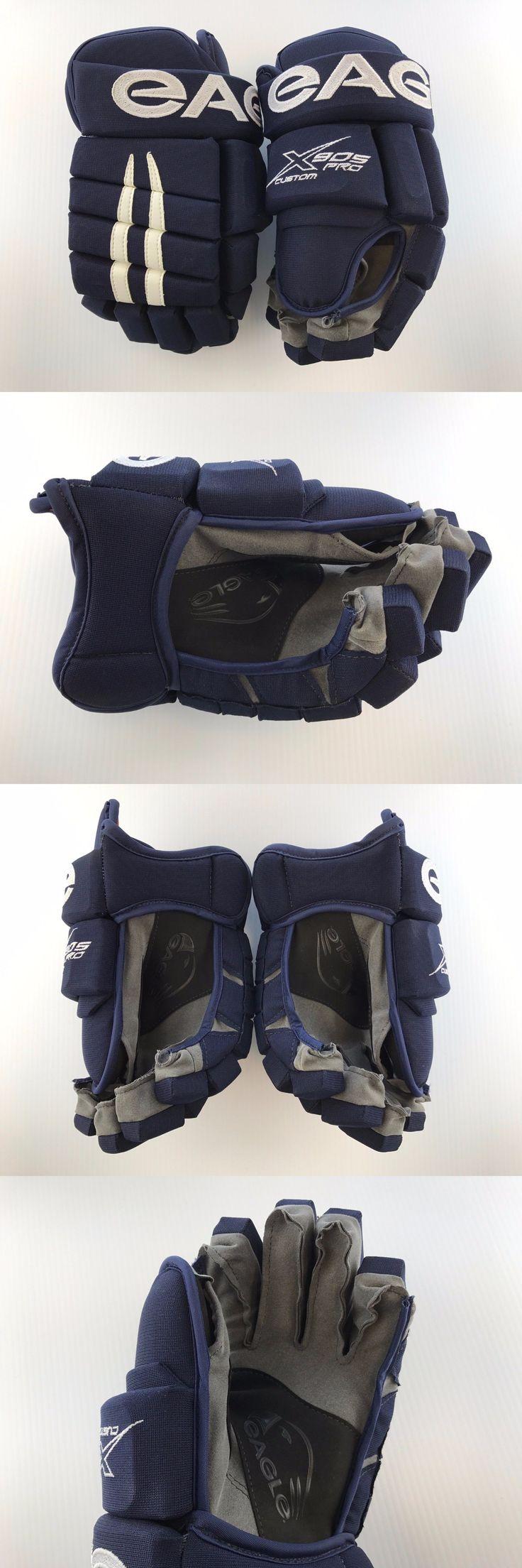 Gloves 20853: New! Custom Eagle X905 Pro Hockey Player Gloves 14 Navy White -> BUY IT NOW ONLY: $99 on eBay!