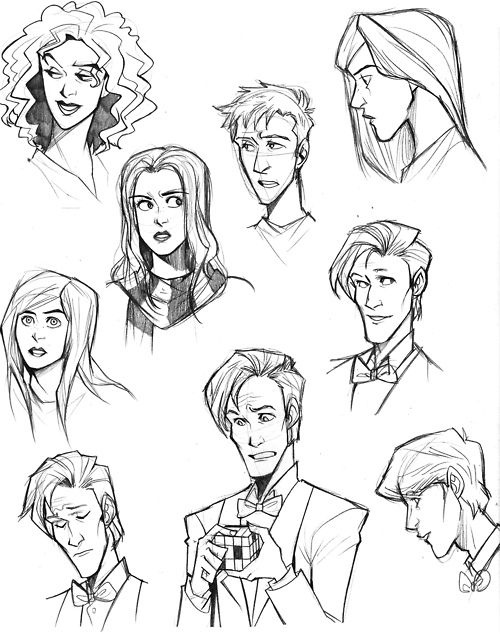 Rory Williams, Amy Pond, Eleventh Doctor, River Song. Picture uncredited. It's like a Disney version of Doctor Who!