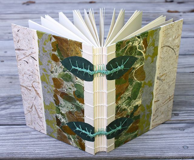 Coptic and Caterpillar Stitch Garden Journal by MissRuth, via Flickr