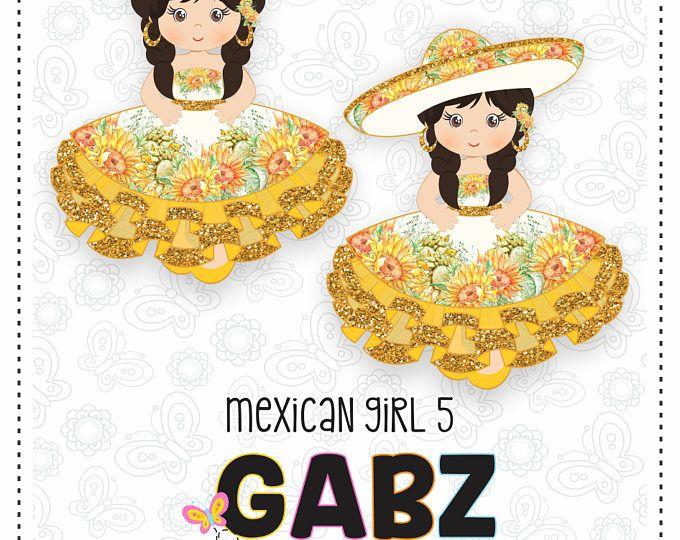 Chica mexicana 5, quince partido dulce dieciséis, Imágenes Prediseñadas, cumpleaños, Charra, mexicano, Fiesta, Viva Mexico, Charro, 5 Mayo, mexicano, Gabz