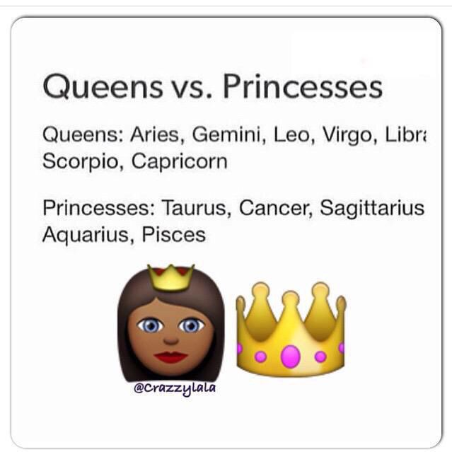 Me, my mother, & all of my friends are listed as queens. Cause queens raise queens & queens surround themselves with other queens.