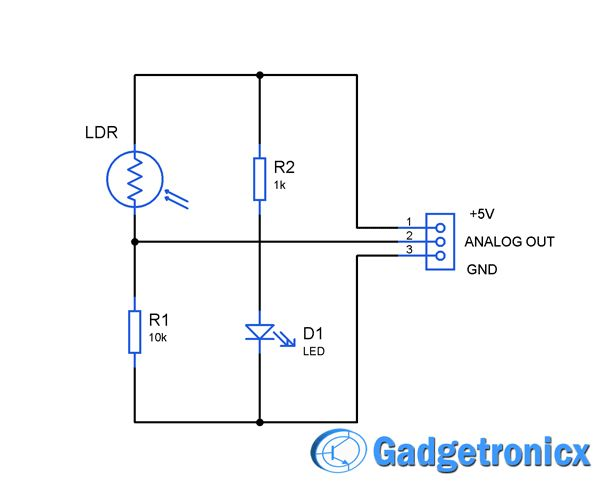 Light Sensor Circuit on piezo buzzer circuit diagram