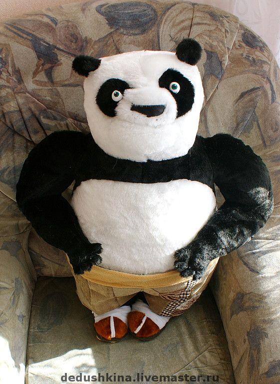 Купить Панда кунг фу - панда, персонажи мультфильмов, мультяшки, мех искусственный, флис
