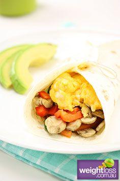 Breakfast Burrito. #HealthyRecipes #DietRecipes #WeightLossRecipes weightloss.com.au