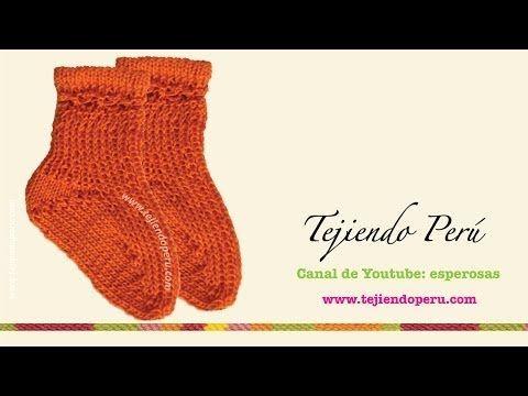 CURSO DE TEJIDO DOS AGUJAS: Cómo tejer medias / calcetines paso a paso en video | Crochet y Dos agujas
