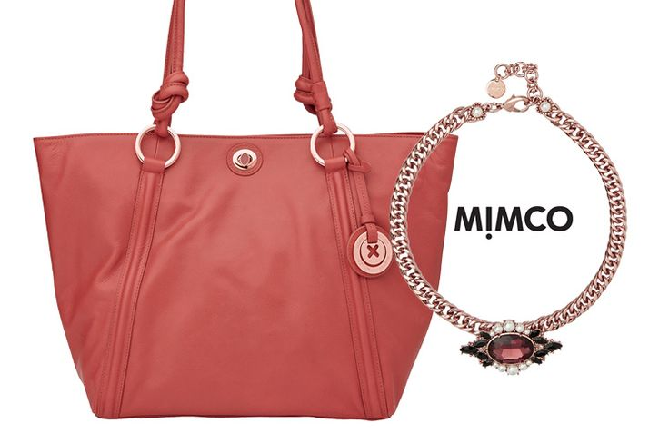 Win a Mimco Venetian Choker in Rose Gold and Mimco Supernatural Tote in Mars Red