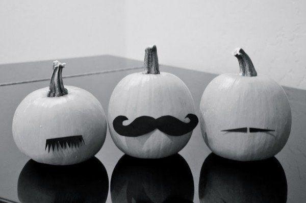 moustache pumpkins