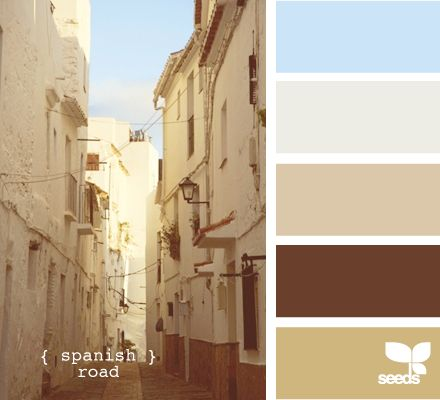 spanish road - love this in a bedroom: Colors Pallets, Kitchens Colors, Spanish Roads, Design Seeds, Paintings Colors, Colors Palettes, Colors Schemes, Spanish Colors, Colors Inspiration