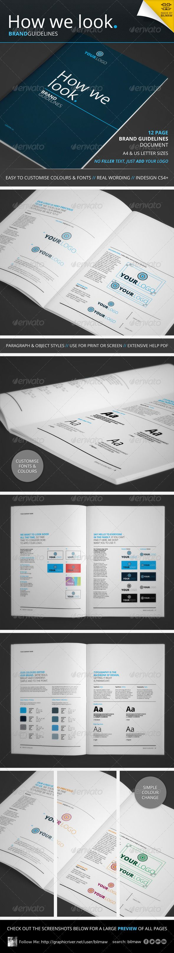 How We Look - Brand Guidelines - i like the idea of laying your guidelines out in a book... i didn't think to do that.
