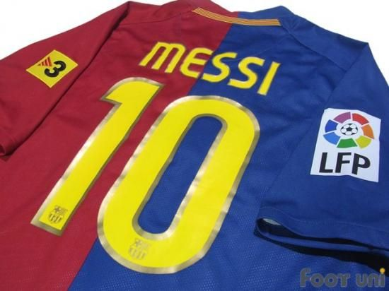 """""""Barcelona 2008-2009 Home #10 Messi"""" Classic , old clothes , it is the net shop of vintage football shirts(Soccer Jerseys). Assortment of difficult rare item available is also abundant."""