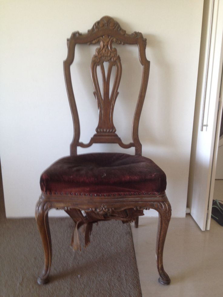 An old antique chair needs some love