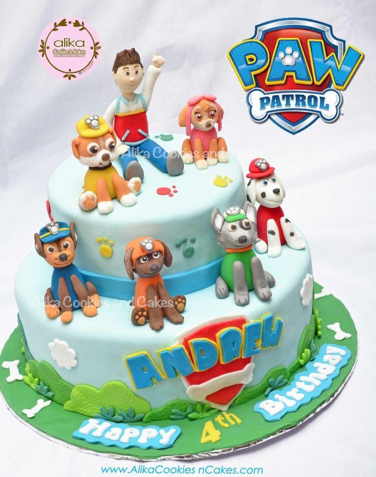 PAW Patrol Cake | Contoh Decorate CAKE (FONDANT)