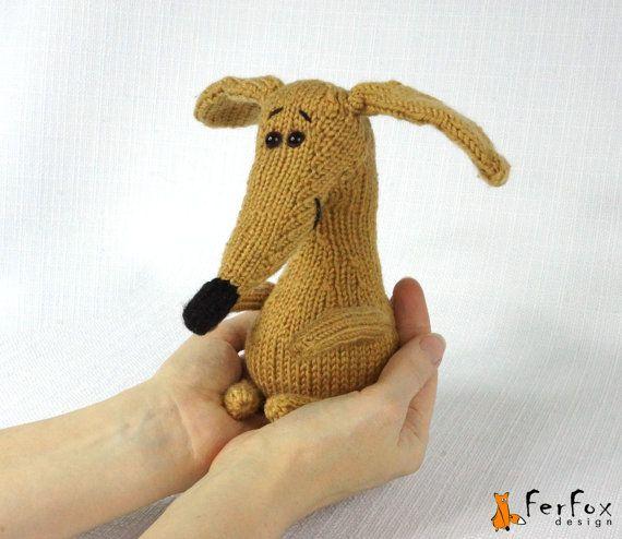 Hand knit Puppy / Stuffed Dog / Amigurumi Dog Toy by FerFoxDesign
