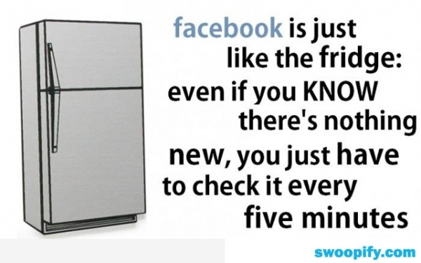 Facebook Is Like A Fridge #humor #lol #funny: Fridge, Truth, Facebook, So True, Funny Stuff, Funny Quotes, Humor, Funnies